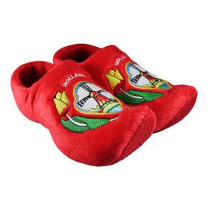 Klomp pantoffels Nijhuis molen rood