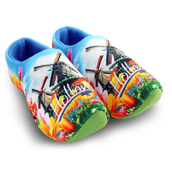 Klomp pantoffels Nijhuis print molens
