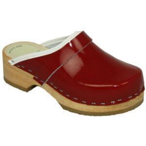 Schoenklompen KIDS Simson rood lak