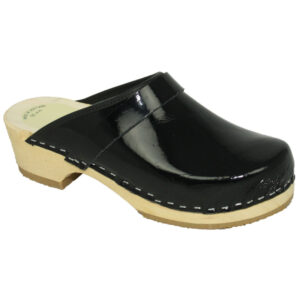Schoenklompen KIDS Simson zwart lak