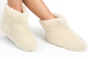 Woolwarmers Wollen Slof Dolly wit