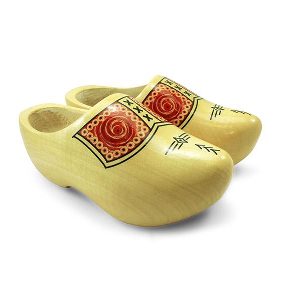 Houten klompen Nijhuis traditioneel geel