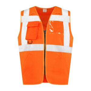 Veiligheidsvest met rits RWS VRRWS100 oranje