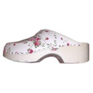 Schoenklompen bloemenprint PU